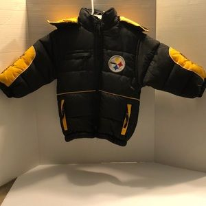 NFL Steelers boys puff jacket